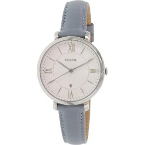 Fossil Women's Jacqueline ES3821 Blue Leather Quartz Watch