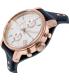 Fossil Women's ES3838 Blue Leather Quartz Watch - Side Image Swatch