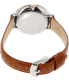 Fossil Women's ES3842 Brown Leather Quartz Watch - Back Image Swatch