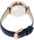 Fossil Women's ES3843 Blue Leather Quartz Watch - Back Image Swatch