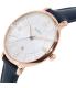 Fossil Women's ES3843 Blue Leather Quartz Watch - Side Image Swatch