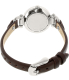Fossil Women's ES3861 Brown Leather Quartz Watch - Back Image Swatch