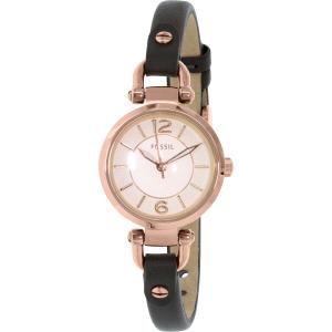 Fossil Women's ES3862 Rose Gold Leather Quartz Watch