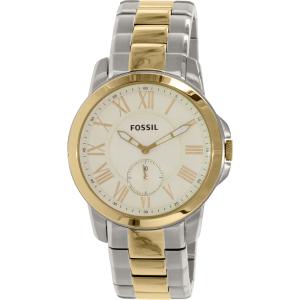 Fossil Men's Grant FS5026 Silver Stainless-Steel Quartz Watch