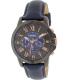 Fossil Men's Grant FS5061 Blue Leather Quartz Watch - Main Image Swatch