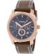 Fossil Men's Machine FS5073 Brown Leather Quartz Watch - Main Image Swatch