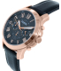 Fossil Men's FS5085 Rose Gold Leather Quartz Watch - Side Image Swatch