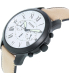 Fossil Men's FS5087 Black Leather Quartz Watch - Side Image Swatch