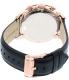 Fossil Men's FS5097 Black Leather Quartz Watch - Back Image Swatch