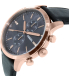 Fossil Men's FS5097 Black Leather Quartz Watch - Side Image Swatch