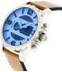 Fossil Men's JR1492 Brown Leather Quartz Watch - Side Image Swatch