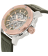 Fossil Men's ME3082 Rose Gold Leather Automatic Watch - Side Image Swatch