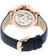 Fossil Women's ME3086 Blue Leather Automatic Watch - Back Image Swatch
