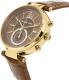 Michael Kors Women's Sawyer MK2424 Brown Leather Quartz Watch - Side Image Swatch