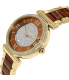 Michael Kors Women's Catlin MK3411 Brown Stainless-Steel Quartz Watch - Side Image Swatch
