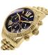 Michael Kors Women's Lexington MK6206 Gold Stainless-Steel Quartz Watch - Side Image Swatch