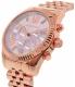 Michael Kors Women's MK6207 Rose Gold Stainless-Steel Quartz Watch - Side Image Swatch