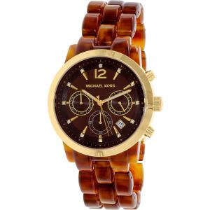 Michael Kors Women's Audrina MK6235 Brown Plastic Quartz Watch