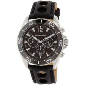 Michael Kors Men's Windward MK8419 Black Leather Quartz Watch