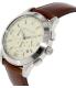Michael Kors Men's Gareth MK8449 Brown Leather Quartz Watch - Side Image Swatch