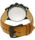 Michael Kors Men's MK8450 Black Leather Quartz Watch - Back Image Swatch
