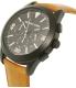 Michael Kors Men's MK8450 Black Leather Quartz Watch - Side Image Swatch