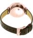 Skagen Women's SKW2356 Rose Gold Leather Quartz Watch - Back Image Swatch
