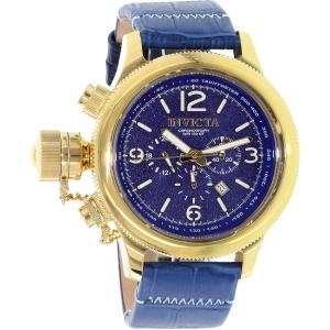 Invicta Men's Russian Diver 18577 Blue Leather Quartz Watch