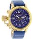 Invicta Men's Russian Diver 18577 Blue Leather Quartz Watch - Main Image Swatch