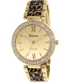 Geneva Platinum Women's 2394.LEOPARD.GOLD Gold Metal Quartz Watch
