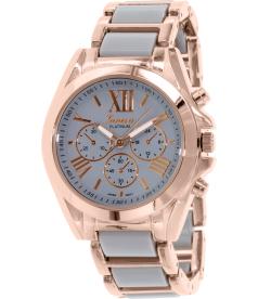 Geneva Platinum Women's 4764.GRAY.ROSEGOLD Rose Gold Metal Quartz Watch
