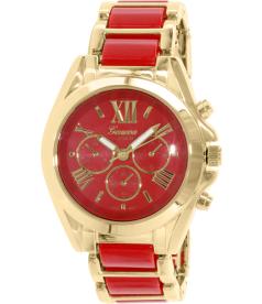 Geneva Platinum Women's 4764.RED.GOLD Red Metal Quartz Watch