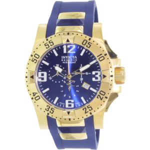 Invicta Men's Excursion 6266 Blue Rubber Swiss Quartz Watch