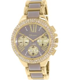 Geneva Platinum Women's 9485.TAUPE.GOLD Gold Metal Quartz Watch