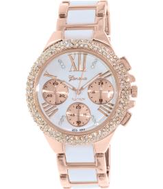 Geneva Platinum Women's 9485.WHITE.ROSEGOLD Rose Gold Metal Quartz Watch