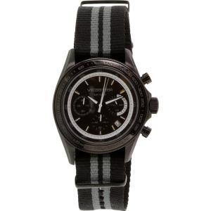Velocitech Men's Estoril VL-7008-04 Black Nylon Analog Quartz Watch