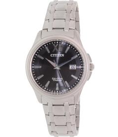 Citizen Men's Eco-Drive BM7240-50E Silver Titanium Quartz Watch
