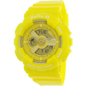 Casio Women's Baby-G BA110BC-9A Yellow Resin Quartz Watch