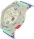 Casio Women's Baby-G BGA180-3B Grey Resin Quartz Watch - Side Image Swatch