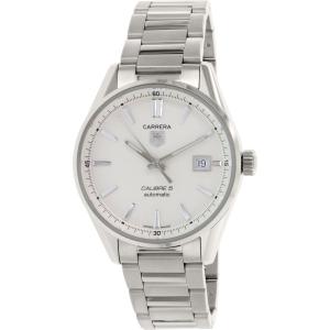 Tag Heuer Men's Carrera WAR211B.BA0782 Silver Stainless-Steel Swiss Quartz Watch