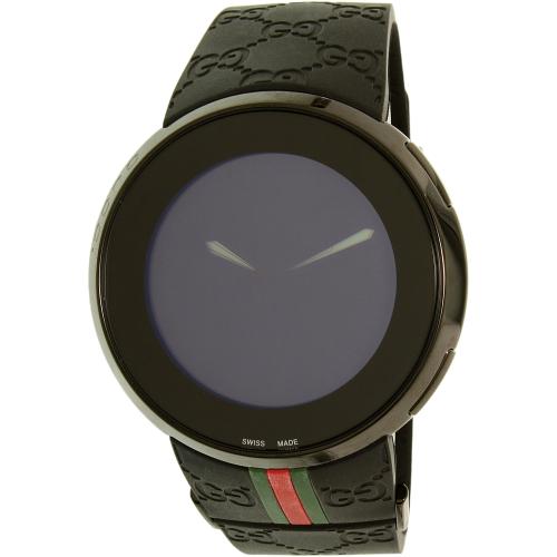6721b49b35c ... UPC 731903070677 product image for Gucci Men s I-Gucci YA114207 Black  Resin Swiss Quartz Watch