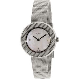 Gucci Women's U-Play YA129517 Silver Stainless-Steel Swiss Quartz Watch