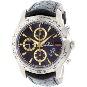 Gucci Men's G-Timeless YA126237 Silver Leather Swiss Quartz Watch