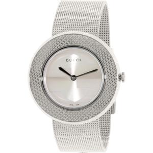 Gucci Women's U-Play YA129407 Silver Stainless-Steel Swiss Quartz Watch