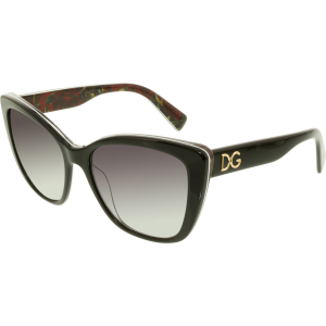 Dolce & Gabbana Women's Gradient  DG4216-29408G-55 Black Square Sunglasses