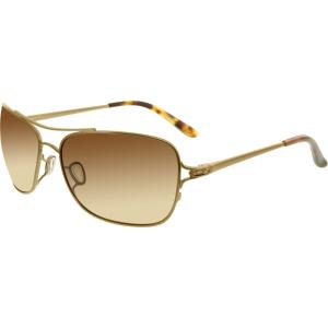 Oakley Women's Polarized Conquest OO4101-01 Bronze Rectangle Sunglasses