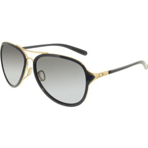 Oakley Women's Gradient Kickback OO4102-03 Blue Aviator Sunglasses