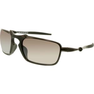 Oakley Men's Badman OO6020-06 Black Rectangle Sunglasses
