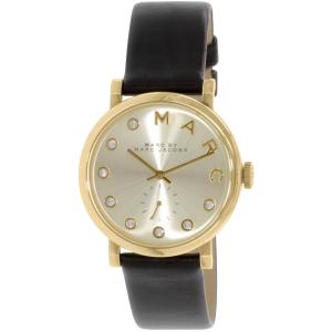 Marc by Marc Jacobs Women's MBM1399 Black Leather Swiss Quartz Watch