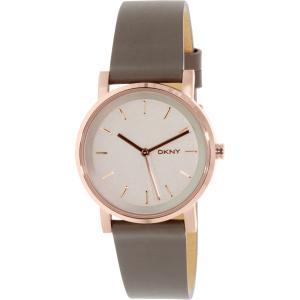 Dkny Women's Soho NY2341 Rose Gold Leather Quartz Watch